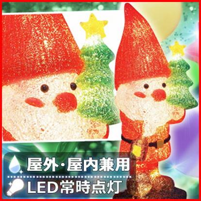 LED 3D ブリリアント モチーフ ライト サンタの森 サンタ ツリー & ランタン L